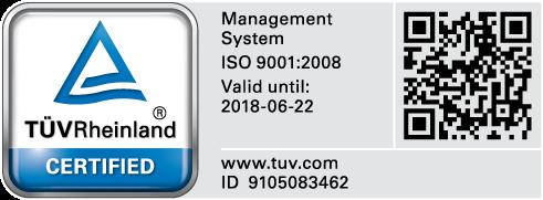 TUV ISO 9001 Certification